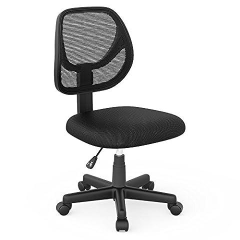 1home ergonomique en tissu maille réglable pivotant Executive Chaise de bureau Bureau d'ordinateur