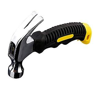 walmics 250g Mini Klauenhammer, 8.8OZ Edelstahl Sicherheit Hammer mit Nagelzieher, tragbare Holz-Hand Werkzeug