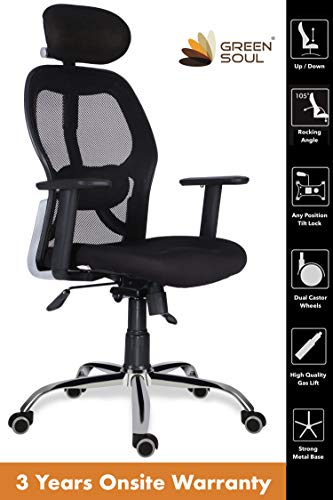 GreenSoul New York High Back Mesh Office Chair (Black)