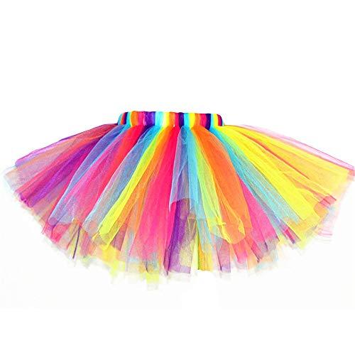 Styhatbag Baby-Geschenk Kleines Mädchen überlagert Regenbogen-Farbigen Ballett Rock -