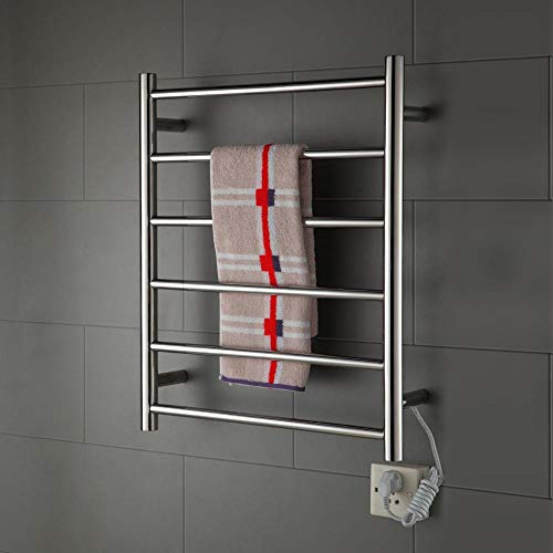 TONGTONG Elektro-Taschenwärmer Chrome Flat Panel Handtuch-Radiator beheizte Bad Designer 650 * 500 * 112-60W -