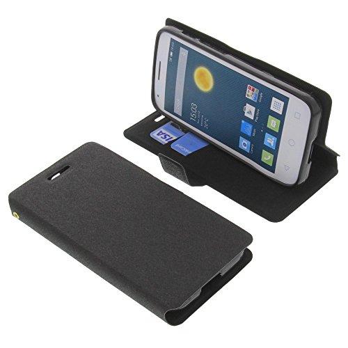 foto-kontor Tasche für Alcatel One Touch Pixi 3 4.5 Book Style schwarz Schutz Hülle Buch