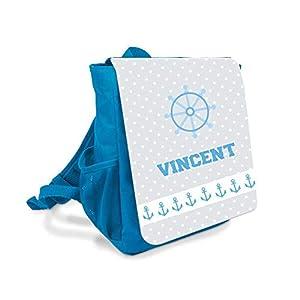 Kinder-rucksack für Jungen mit Namen u. Anker