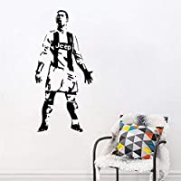wangpdp Cristiano Ronaldo CR7 Vinyl Wall Sticker Soccer Athlete Ronaldo Wall Decals Art Mural For Kis Room Living Room Decoration 57x121cm