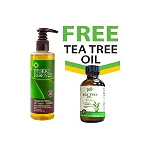 Desert Essence Tea Tree Oil Skin Wash + FREE 100% Australian Tea Tree Oil