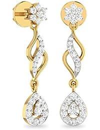 PC Jeweller The Esrom 18KT Yellow Gold & Diamond Earring