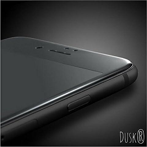 Dusk Protecteur d'écran en verre trempé pour Apple iPhone 7 Fibre de carbone incurvée Couvre entièrement la face avant pour une protection maximale Dureté 9H