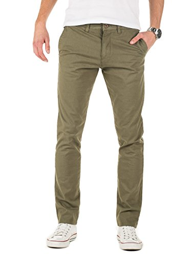 Yazubi Chino Hosen für Herren Kyle by YZB Jeans slim fit Business vintage khaki olive grün Chinohose Casual Stretch, dusty olive (180515), W38/L30