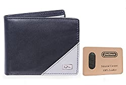 Gentleman Genuine Leather Mens Wallets (Black) Bi-Fold