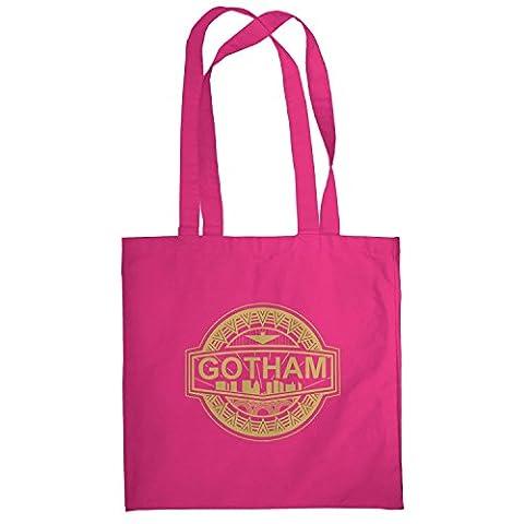 TEXLAB - Gotham Logo - Stoffbeutel, pink (Villain-kostüme Für Frauen)