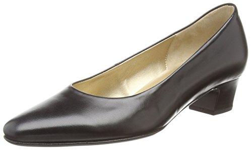 Gabor  Company,  Damen Geschlossene Pumps , Schwarz - Schwarz (Schwarzes Leder) - Größe: 42 (UK 8)