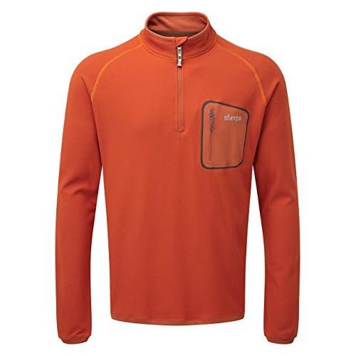 41yoFZB DtL. SS500  - SHERPA ADVENTURE GEAR Men's Tsepun Zip T-shirt Top