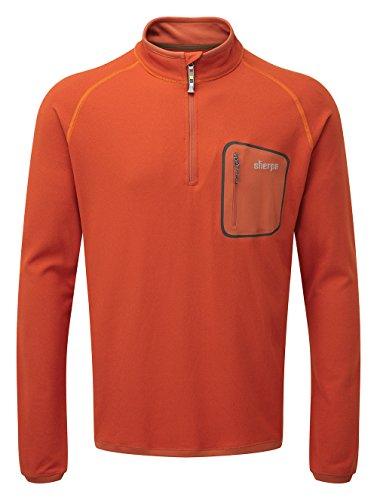 Sherpa Herren Tsepun Zip Tee Top, Geelo, XL (Sweatshirt Thermal Sherpa)