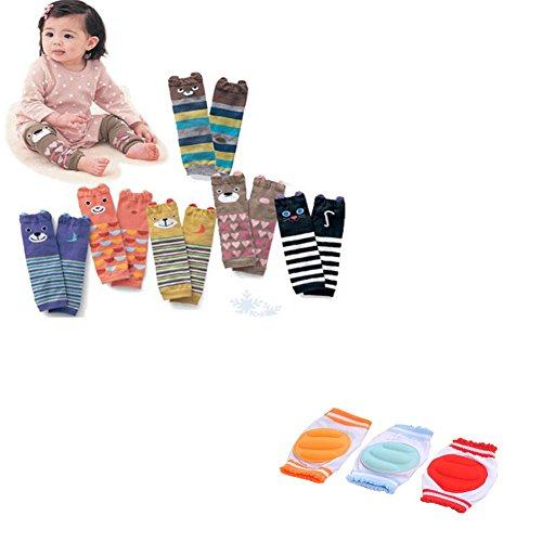 Luckystaryuan ® Set von 9 Beinlinge wie Set von 6 Big Kinder Knieschützer Set von 3 S Kinder Beinschutz (schön Mädchen Stil)