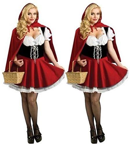 Kostüm Tanz Märchen - MAIMOMO Panties & Hipsters Für Damen Halloween Kostüm_Halloween Kostüm Rotkäppchen Prinzessin Kostüm Japanisches Weihnachtskostüm Tanz Performance Kostüm Märchen, Rot, Einheitsgröße
