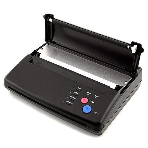 DiLiBee Thermal Kopierer Tätowierung hermal Thermodrucker Tattoo Thermo Kopierer Transfer Printer Maschine Schwarz A4 - Schwarz-kopierer-maschinen