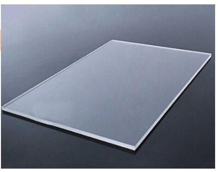 Cast Acrylic Sheet - Transparent Clear -18 x 18 inches - thickness 3mm