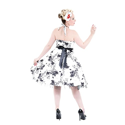 Hearts & Roses - Robe - À Fleurs - Femme Blanc - Blanc