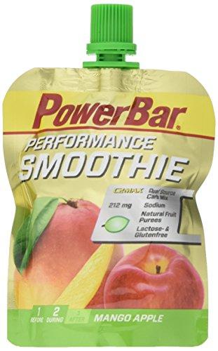 PowerBar Performance Smoothie aus Fruchtpüree - Mit Kohlenhydraten, Maltodextrin & Natrium - Energie Gels ohne Konservierungsstoffe - Vegan - Mango Apfel (16 x 90 g) -