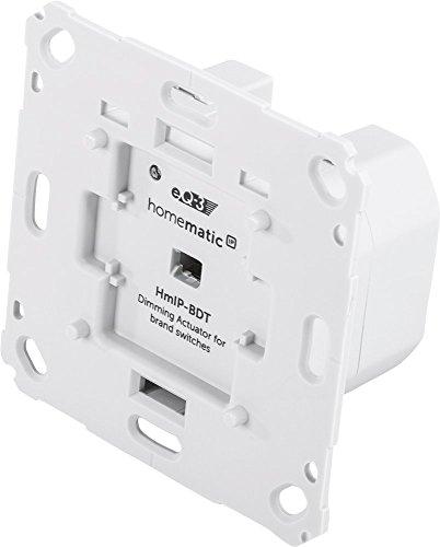 Homematic IP, 143166A0, Smart Home Dimmaktor für Markenschalter – Phasenabschnitt, Phasenabschnittsdimmer für dimmbare Leuchtmittel sowie auch für die meisten dimmbaren(!) LED-Lampen