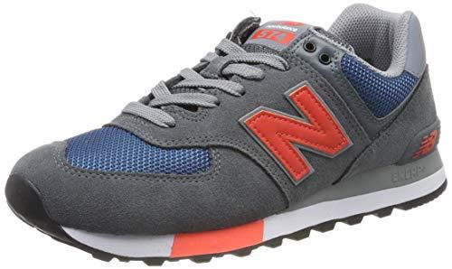 New Balance Herren ML574 D Sneaker, Grau Grey/Blue, 46.5 EU -