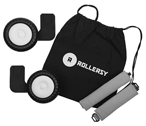 ROLLERSY - Räder mit Griff/Tragegurt für eine Babyschale 0-13 kg, Farbe: BABY GREY