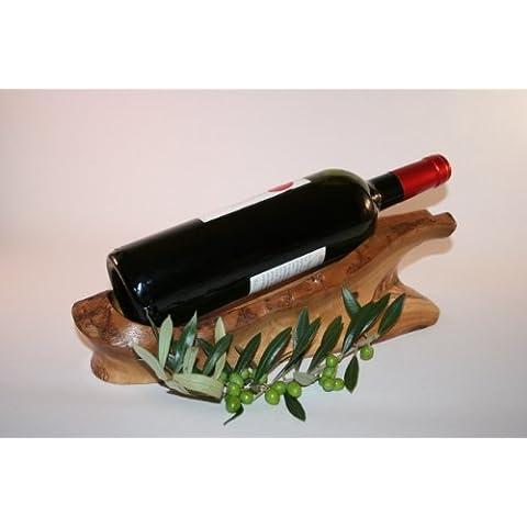 Supporto per bottiglia, in legno d