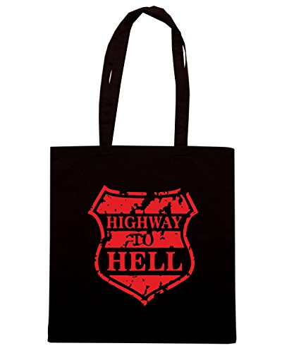 T-Shirtshock - Borsa Shopping MAT0042 Highway To Hell Maglietta Nero