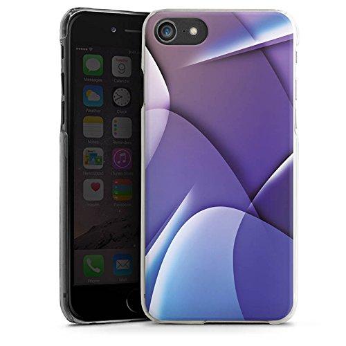 Apple iPhone X Silikon Hülle Case Schutzhülle Muster Struktur Lila Hard Case transparent