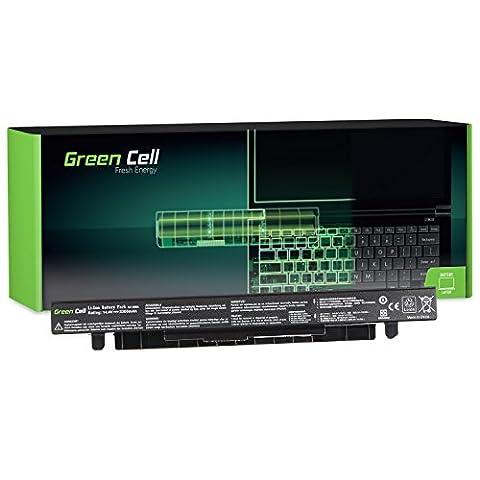 Green Cell® Standard Série Batterie pour Asus X550L Ordinateur PC Portable (4 Cellules 2200mAh 14.4V Noir)