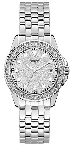GUESS Damen-Armbanduhr 36mm Armband Edelstahl + Gehäuse Quarz Analog W1235L1
