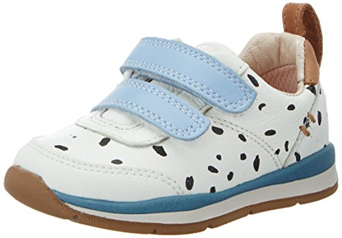Clarks Baby Mädchen Ferrisvibe Fst Lauflernschuhe, Weiß (White Combi Lea), 25 EU
