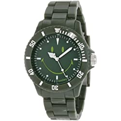 "Smiley ""Happy Time"" Ladies Urban Dark Green Analogue Watch WGS-UDGV01"