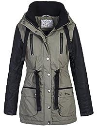 Rock Angel Damen 44366A Steppjacke Übergangsjacke Jacke mit Kapuze Ombre