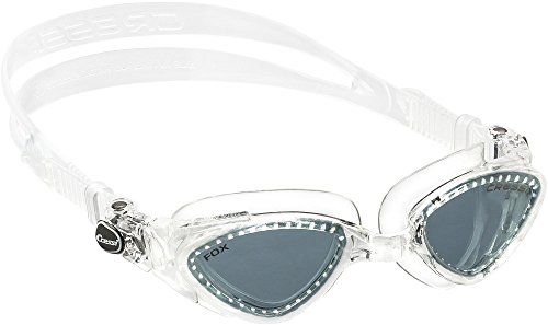 Cressi Swim Uni Schwimmbrille Fox Deluxe, transparent, One size, DE202100