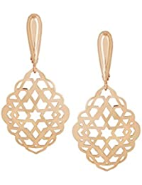 TBZ - The Original Contemporary Collection 14k (585) Rose Gold Drop Earrings