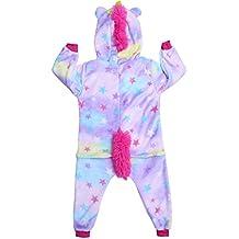 592f87c86d0 YiZYiF Pijama Unicornio Invierno para Unisex Niños Mono Una Pieza para  Dormir Disfraz de Unicornio para