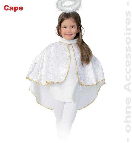 FASCHING 10040 Kinder-Kostüm Cape Engel Panne-Samt Umhang NEU/OVP: Größe: 104-116