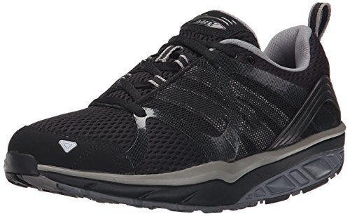MBT Damen Leasha Trail Lace Up Sportschuh schwarz (Nero (Black/Steel/Silver))