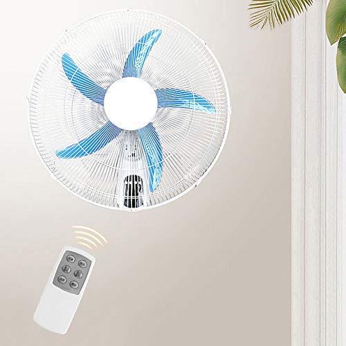 Koovin Ventilador de Pared oscilante doméstico con Control Remoto y sincronización, Cuchillas Azules...
