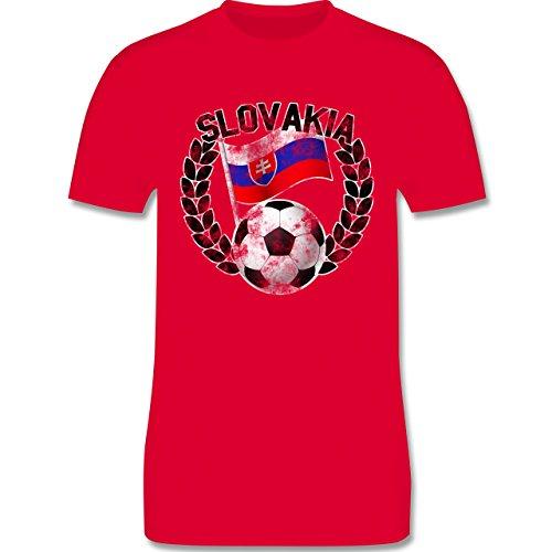 EM 2016 - Frankreich - Slovakia Flagge & Fußball Vintage - Herren Premium T-Shirt Rot