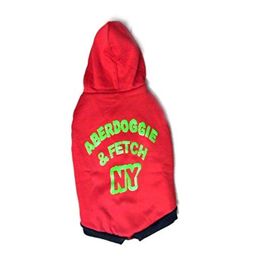 Pawzone Aberdoggie And Fetch Red Dog Hoodie - Size 10
