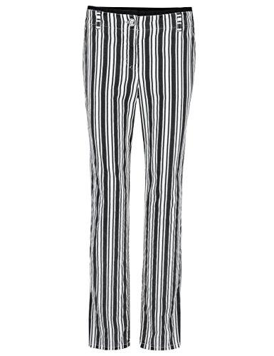 MARC CAIN SPORTS Damen Hose GS 81.14 W63 Schwarz (Black And White 910)