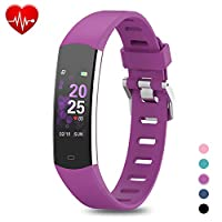BingoFit Fitness Tracker, Slim Sports Activity Tracker with Heart Rate Monitor Waterproof Pedometer Watch with Sleep Monitor, Step Counter, Calorie Counter GPS Sports Watch for Women Men Kids