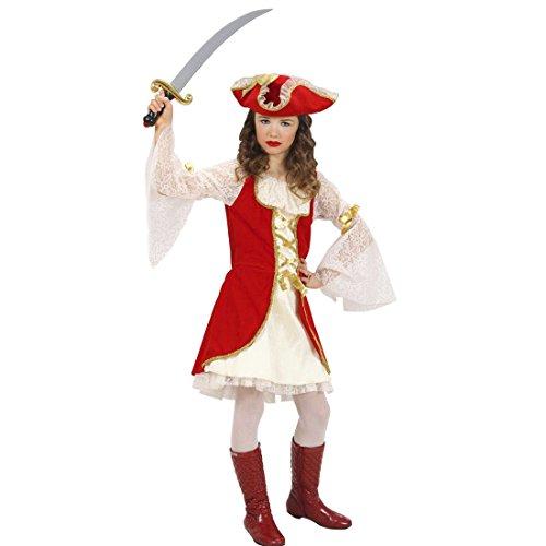Renaissance Mädchen Kinder Kostüm - Kinder Piratenkostüm Piratenkleid Mittelalterkostüm Seeräuber 140 cm 8-10 Jahre Piratinnenkostüm Mittelalter Piratin Kostüm Karnevalskostüme Mädchen Historisches Piratenoutfit Freibeuter Musketierkostüm Renaissance