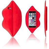 Xcessor Lips Labbra Silicone Custodia per Apple iPhone 6 e 6S. Rosso - Lips Gomma