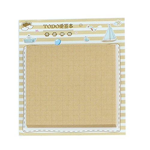 Tutoy 50 Blätter Grid / Line / Todo Liste Selbstklebende Notizblock Notiz-Notiz -D