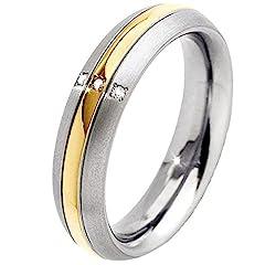Idea Regalo - Boccia ltext-anello Titan (0,015 ct) trasparente con taglio a brillante 63 (20,1) - misura 0131-0463