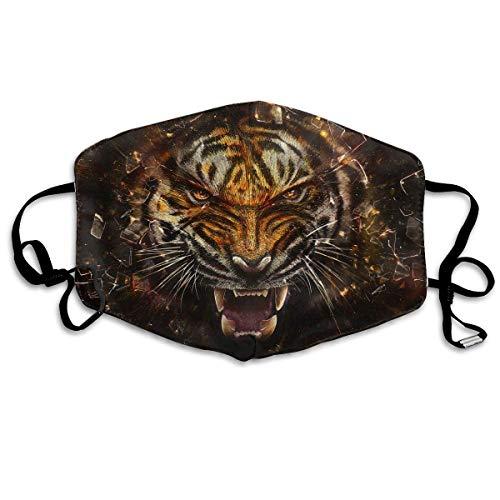 Masken, Masken für Erwachsene, Animal Artistic Tiger Print STYL Reusable Anti Dust Face Mouth Cover Mask Protective Breath Healthy Safety (Gas Maske Kleinkinder)
