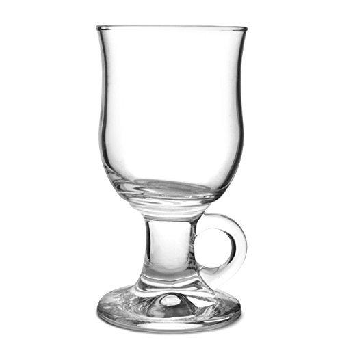 Durobor 1907/24 Mazagran Groggbecher auf Fuß mit Henkel 240ml, 6 Gläser, ohne Füllstrich
